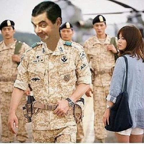 Mr. Bean 'điển trai' thu hút mọi ánh nhìn.