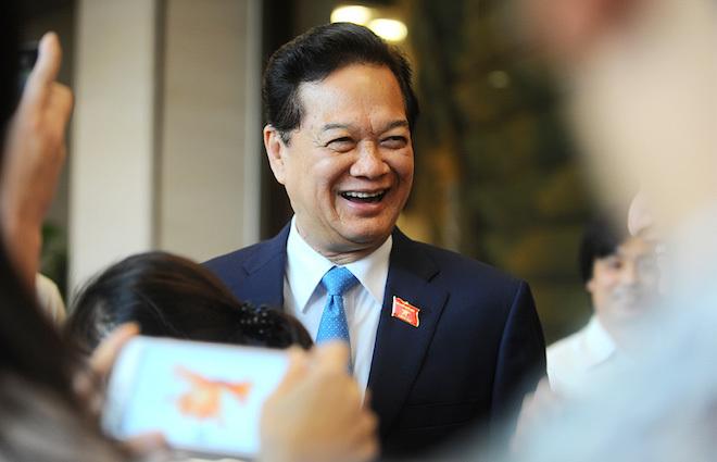 Nụ cười thường trực của Thủ tướng Nguyễn Tấn Dũng