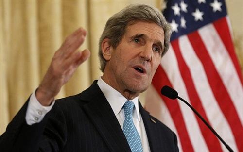 Ngoại trưởng Mỹ John Kerry. Ảnh: Telegraph