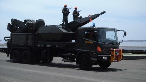 Hệ thống tên lửa Skyshield của Indonesia. Ảnh: IHS