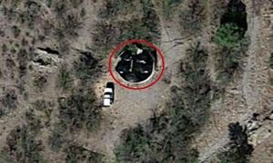 Google Earth chụp ảnh vật thể tròn màu đen giống đĩa bay