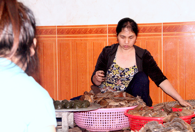 Nghề làm bánh gai làng Khóng