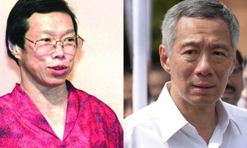 Bà Lý Vỹ Linh và anh trai, ông Lý Hiển Long, thủ tướng Singapore. Ảnh: