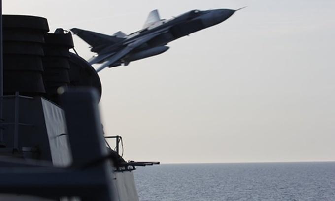Khả năng tác chiến của tàu khu trục Mỹ bị Su-24 Nga áp sát