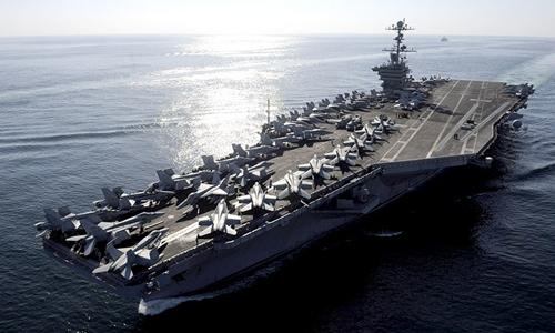 Tàu sân bay USS John C. Stennis. Ảnh: Reuters.