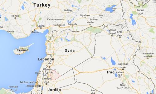 Vị trí tỉnh Swaida, Syria. Đồ họa: Google Maps.