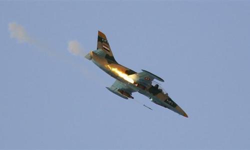 Một phi cơ của quân đội Syria. Ảnh: Reuters.