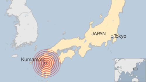 Vị trí xảy ra trận động đất. Đồ họa: BBC
