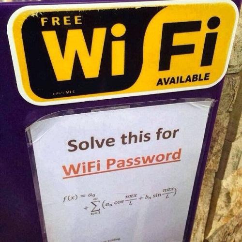 Wifi miễn phí cho người giỏi toán.