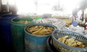 Phát hiện chất cấm vàng ô trong măng ở TP HCM