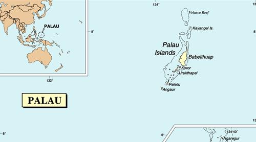 Vị trí Palau. Đồ họa: Wiki Commons.