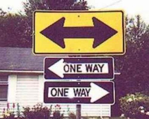 Đường một chiều.