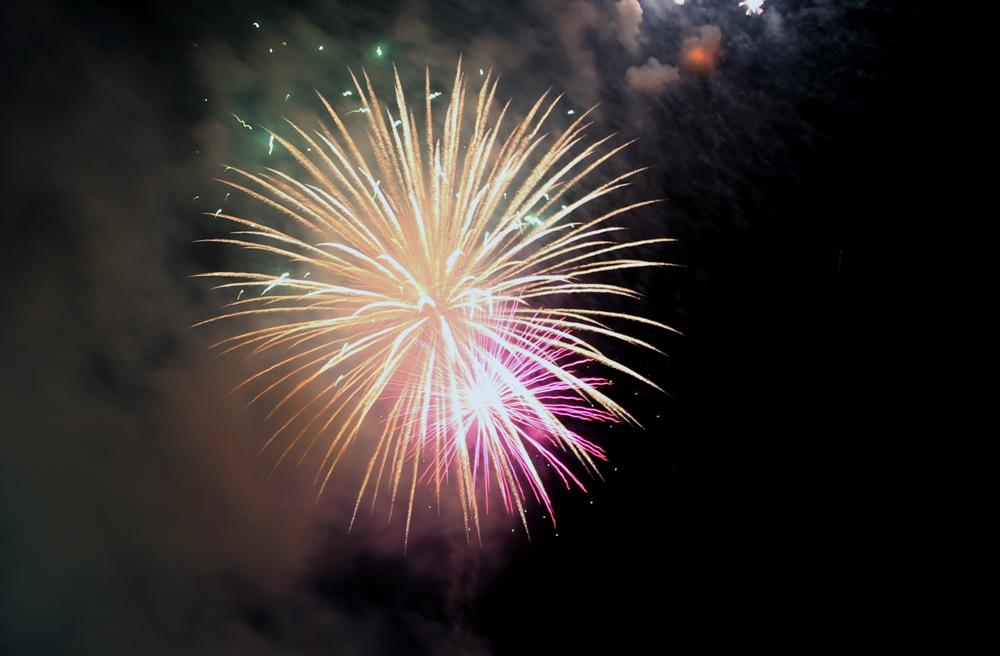 Saigon celebrates unification day with firework show