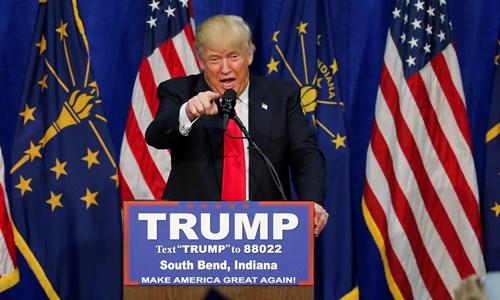 Tỷ phú Donald Trump, ứng viên tổng thống đảng Cộng hòa. Ảnh: Reuters.