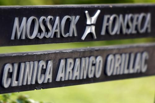Biểu tượng công ty Mossack Fonseca, nơi Hồ sơ Panama rò rỉ. Ảnh: Reuters.