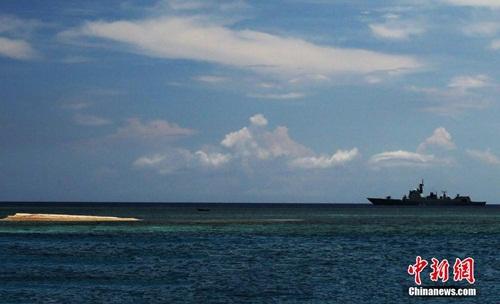 Tàu chiến Trung Quốc tuần tra trái phép ở quần đảo Trường Sa của Việt Nam. Ảnh: ChinaNews
