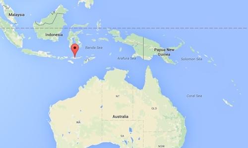 Vị trí Đông Nusa Tenggara của Indonesia. Đồ họa: Google maps