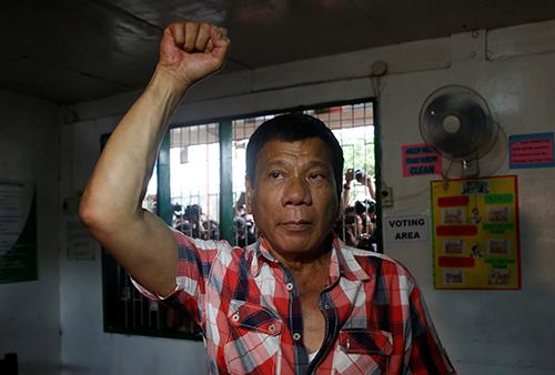 [Caption]Presidential candidate Rodrigo