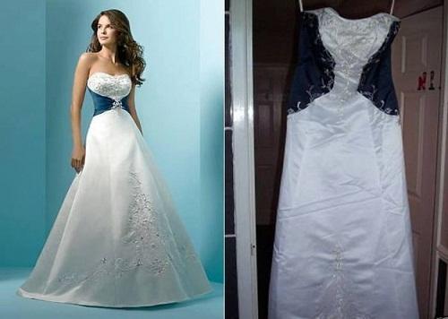 Tìm điểm giống nhau giữa hai chiếc váy cũng là nhiệm vụ khó khăn.
