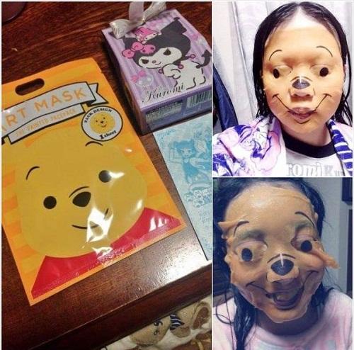 Mặt nạ gấu Pooh dễ thương và thực tế 'dọa người'.