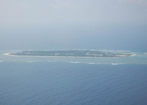 Đảo Ba Bình thuộc chủ quyền của Việt Nam bị Đài Loan chiếm giữ trái phép. Ảnh: CNA