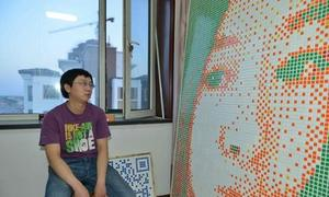 Ghép 840 khối Rubik tỏ tình cô hàng xóm nhưng bị từ chối