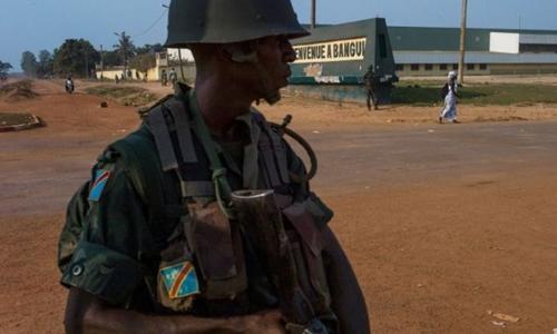 Một binh sĩ Congo tham gia Sứ mệnh Hỗ trợ Quốc tế tại Cộng hòa Trung Phi năm 2014. Ảnh: AFP.