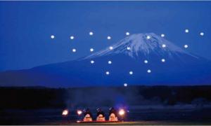 Vũ điệu máy bay không người lái thắp sáng núi Phú Sĩ