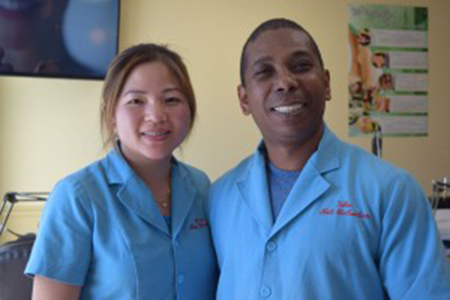 Husband-and-wife Trinh Tu Nguyen Kim and Chung Minh Pham John, who have known each other since childhood, opened their own salon, C&T Nail Spa, on Oak Street last year.PHOTO BY JENNIFER OSBORN