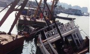 Tàu du lịch trên vịnh Hạ Long đắm lúc nửa đêm
