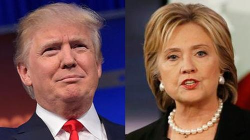 Ông Donald Trump và bà Hillary Clinton, ứng viên tổng thống đang dẫn đầu của hai đảng Cộng hòa và Dân chủ. Ảnh: CBS