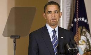 Những lần Obama gặp trục trặc với máy nhắc chữ