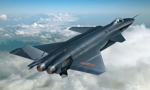Hình ảnh mô phỏng chiến đấu cơ tàng hình J-20 của Trung Quốc. Ảnh: Atimes.com