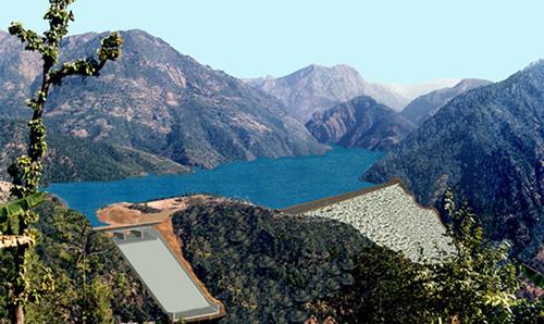 Mô hình nhà máy thủy điện Đrang Phốk được dự định triển khai xây dựng trong Vườn Quốc gia Yok Đôn. Ảnh: Kh. Uyên