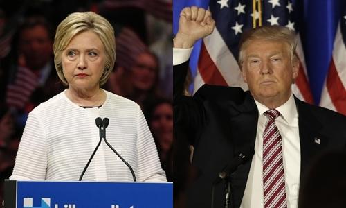 Bà Hillary Clinton (trái), ứng viên đảng Dân chủ, và ông Donald Trump, ứng viên đảng Cộng hòa. Ảnh: Reuters.