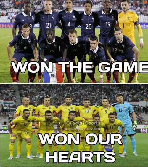 Đội tuyển Romania cũng để lại ấn tượng đẹp trong lòng khán giả.