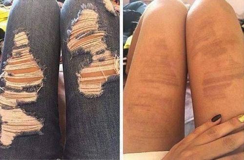 Mốt quần jean rách cũng không áp dụng được trong hè này.