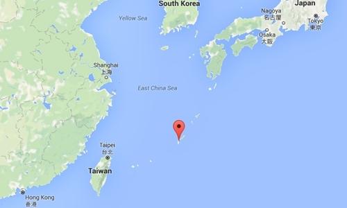 Vị trí đảo Okinawa của Nhật Bản. Đồ họa: Google Maps.