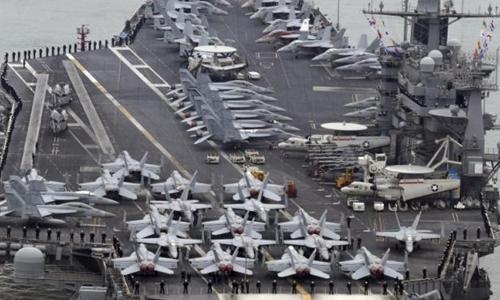 Tàu sân bay John C. Stennis của hải quân Mỹ. Ảnh: Reuters.