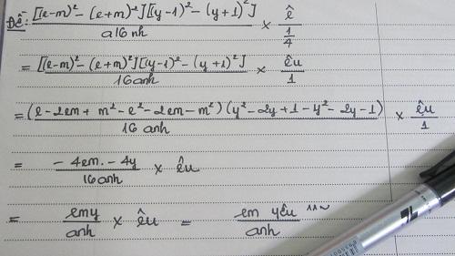 Bài toán chứng minh 'Em yêu anh'.
