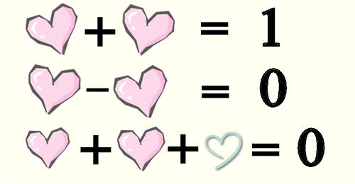 Những phép toán chỉ hợp lý trong tình yêu.