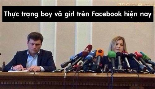 Sự khác nhau giữa nam và nữ trên mạng xã hội.