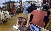 Nữ đạo chích dùng áo che mặt trộm iPhone