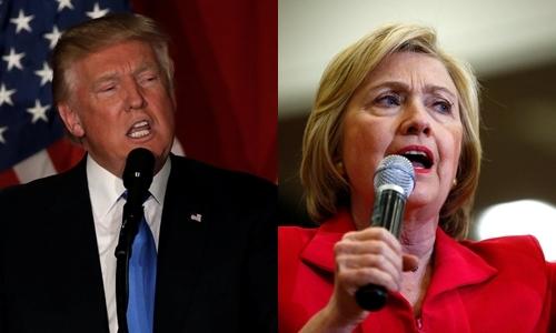Donald Trump, ứng viên tổng thống đảng Cộng hòa (trái), và bà Hillary Clinton, ứng viên đảng Dân chủ. Ảnh: Reuters.