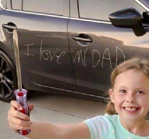 Con yêu bố nhiều lắm bố ơi!