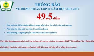Trường đầu tiên ở Hà Nội công bố điểm chuẩn vào lớp 10