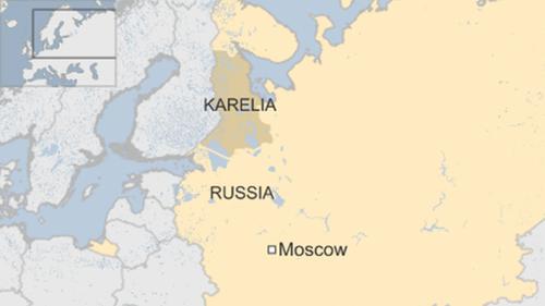 Vị trí Cộng hòa Karelia. Đồ họa: BBC