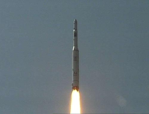 Triều Tiên cố phóng tên lửa Musudan hồi tháng 4 nhưng bất thành. Ảnh: AP
