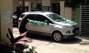 Phun sơn 'Đỗ ngu thế' trên ôtô người khác có bị xử phạt?