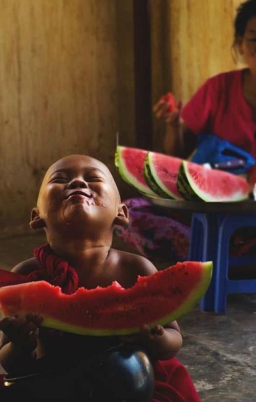 Niềm hạnh phúc trẻ thơ.